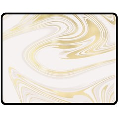 Luxury Gold Marble Fleece Blanket (medium)  by tarastyle