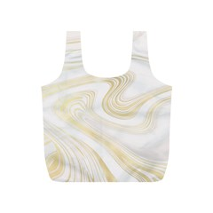 Luxury Gold Marble Full Print Recycle Bag (s)
