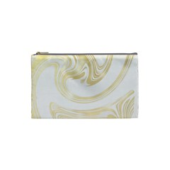Luxury Gold Marble Cosmetic Bag (small) by tarastyle