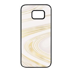 Luxury Gold Marble Samsung Galaxy S7 Edge Black Seamless Case