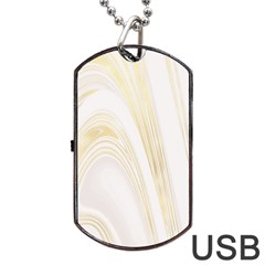 Luxury Gold Marble Dog Tag Usb Flash (two Sides) by tarastyle