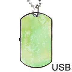 Pastel Salty Watercolor Texture Dog Tag Usb Flash (one Side) by tarastyle