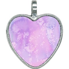 Pastel Salty Watercolor Texture Heart Necklace by tarastyle