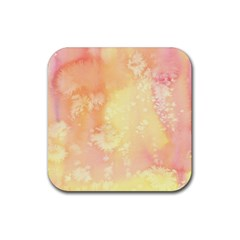 Pastel Salty Watercolor Texture Rubber Square Coaster (4 Pack)