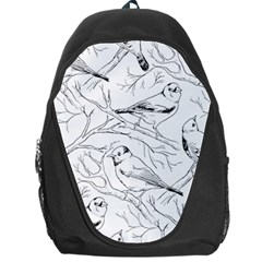 Birds Hand Drawn Outline Black And White Vintage Ink Backpack Bag by genx