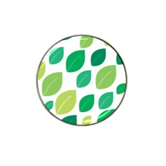 Leaves Green Modern Pattern Naive Retro Leaf Organic Hat Clip Ball Marker (4 Pack) by genx