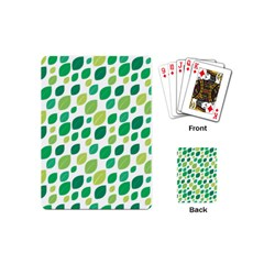 Leaves Green Modern Pattern Naive Retro Leaf Organic Playing Cards (mini) by genx