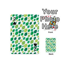 Leaves Green Modern Pattern Naive Retro Leaf Organic Playing Cards 54 (mini) by genx