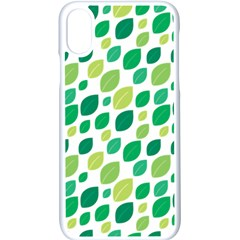 Leaves Green Modern Pattern Naive Retro Leaf Organic Iphone Xs Seamless Case (white) by genx