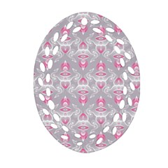 Seamless Pattern Background Oval Filigree Ornament (two Sides)