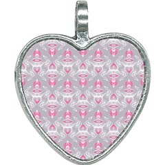 Seamless Pattern Background Heart Necklace