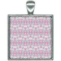 Seamless Pattern Background Square Necklace