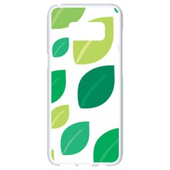 Leaves Green Modern Pattern Naive Retro Leaf Organic Samsung Galaxy S8 White Seamless Case by genx