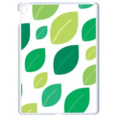 Leaves Green Modern Pattern Naive Retro Leaf Organic Apple Ipad Pro 9 7   White Seamless Case by genx