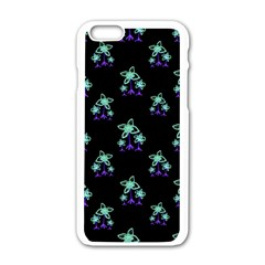 Dark Floral Drawing Print Pattern Iphone 6/6s White Enamel Case by dflcprintsclothing