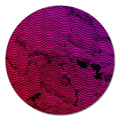 Fancy Tribal Pattern Magnet 5  (round) by tarastyle