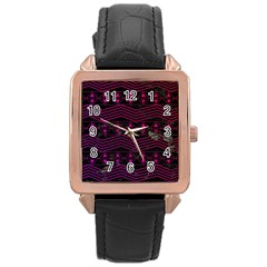 Fancy Tribal Pattern Rose Gold Leather Watch  by tarastyle