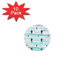 Fancy Tribal Pattern 1  Mini Buttons (10 Pack)  by tarastyle