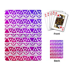 Fancy Tribal Pattern Playing Cards Single Design