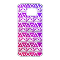Fancy Tribal Pattern Samsung Galaxy S7 Edge White Seamless Case by tarastyle