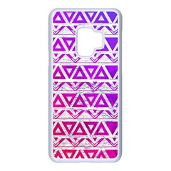 Fancy Tribal Pattern Samsung Galaxy S9 Seamless Case(white)