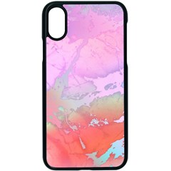 Iridescent Marble Iphone X Seamless Case (black) by tarastyle