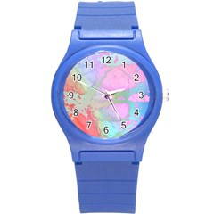 Iridescent Marble Round Plastic Sport Watch (s) by tarastyle