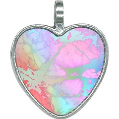 Iridescent Marble Heart Necklace by tarastyle
