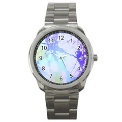 Iridescent Marble Sport Metal Watch by tarastyle