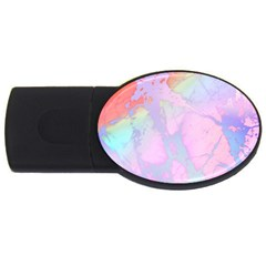 Iridescent Marble Usb Flash Drive Oval (4 Gb) by tarastyle