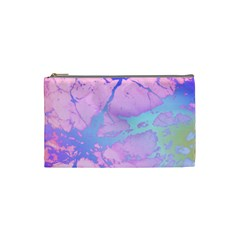 Iridescent Marble Cosmetic Bag (small) by tarastyle