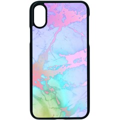 Iridescent Marble Iphone Xs Seamless Case (black)