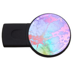 Iridescent Marble Usb Flash Drive Round (2 Gb) by tarastyle