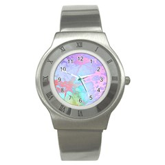 Iridescent Marble Stainless Steel Watch by tarastyle