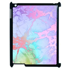 Iridescent Marble Apple Ipad 2 Case (black) by tarastyle