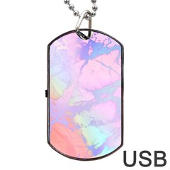 Iridescent Marble Dog Tag Usb Flash (two Sides) by tarastyle