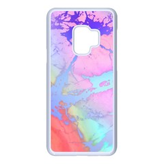 Iridescent Marble Samsung Galaxy S9 Seamless Case(white)