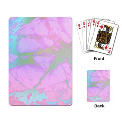 Iridescent Marble Playing Cards Single Design