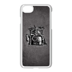Odin On His Throne With Ravens Wolf On Black Stone Texture Iphone 7 Seamless Case (white) by snek