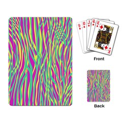 Funky Zebra Print Playing Cards Single Design by tarastyle