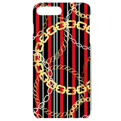 Luxury Chains And Belts Pattern Iphone 7/8 Plus Black Uv Print Case