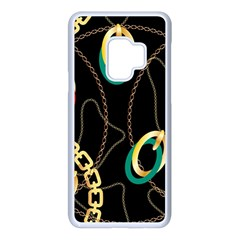 Luxury Chains And Belts Pattern Samsung Galaxy S9 Seamless Case(white)