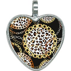 Luxury Chains And Belts Pattern Heart Necklace by tarastyle