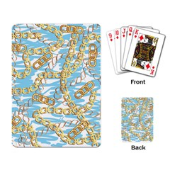 Luxury Chains And Belts Pattern Playing Cards Single Design by tarastyle