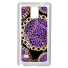 Luxury Chains And Belts Pattern Samsung Galaxy Note 4 Case (white)