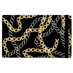 Luxury Chains And Belts Pattern Apple Ipad Pro 12 9   Flip Case