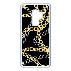 Luxury Chains And Belts Pattern Samsung Galaxy S9 Plus Seamless Case(white)