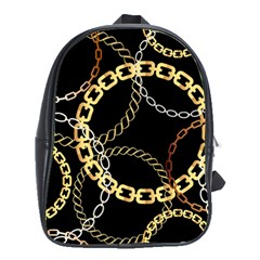 Luxury Chains And Belts Pattern School Bag (xl)