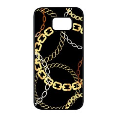 Luxury Chains And Belts Pattern Samsung Galaxy S7 Edge Black Seamless Case by tarastyle