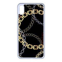 Luxury Chains And Belts Pattern Iphone Xs Max Seamless Case (white) by tarastyle